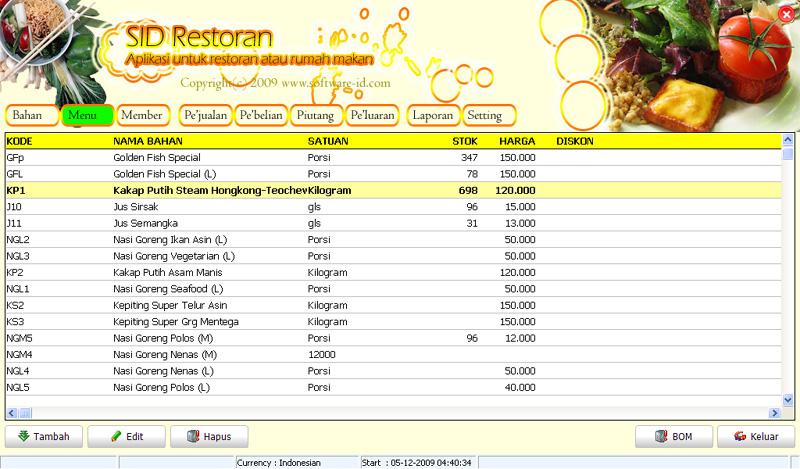 Software Restoran Cafe Rumah Makan Dengan Fitur Lengkap